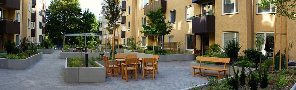 Innergårdsrenovering på Tjustgatan 5