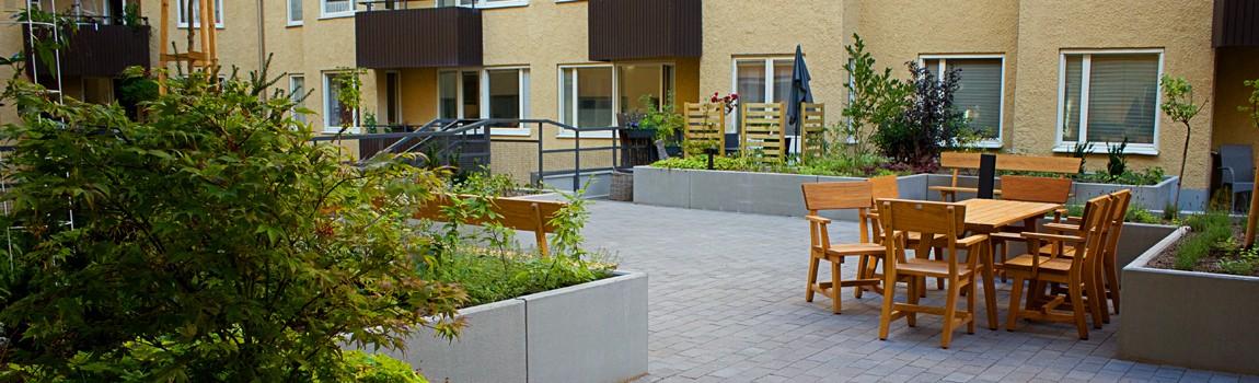 Innergårdsrenovering Tjustgatan 5