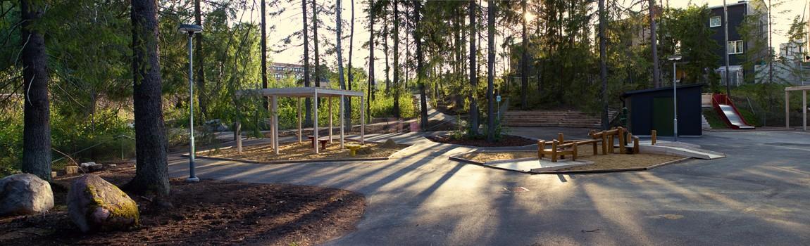 Skolgård Långjökelgatan 1-5 i Kista
